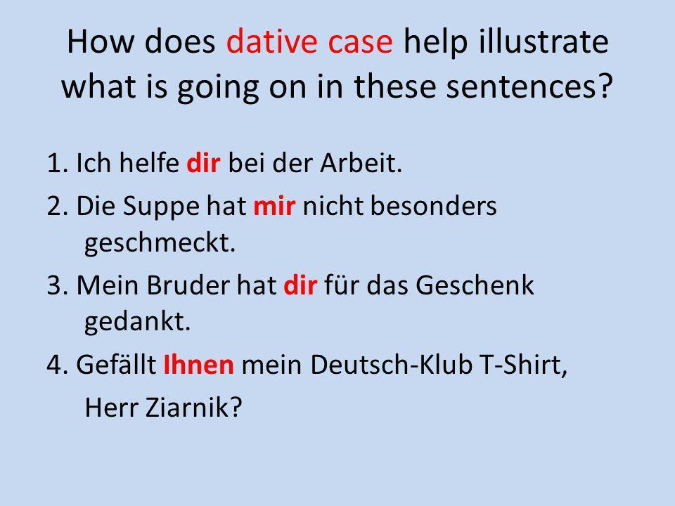 Lernen Sie die Dativ-Verben im Arbeitsheft, Seite 4!