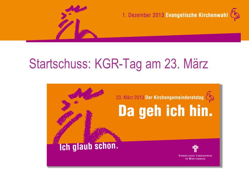 Startschuss: KGR-Tag am 23. März