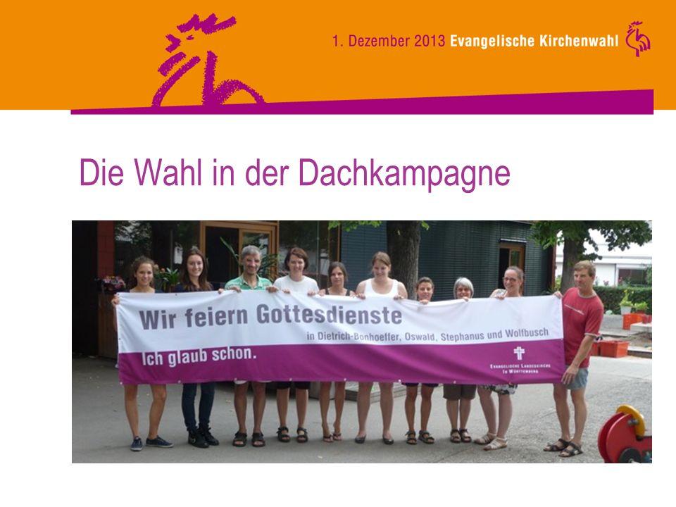 Kommunikationsmittel Wahlkalender (auch im web) Broschüre So wird gewählt Sonderdruck KGO und KWO Broschüre Der Kirchengemeinderat Ideenheft