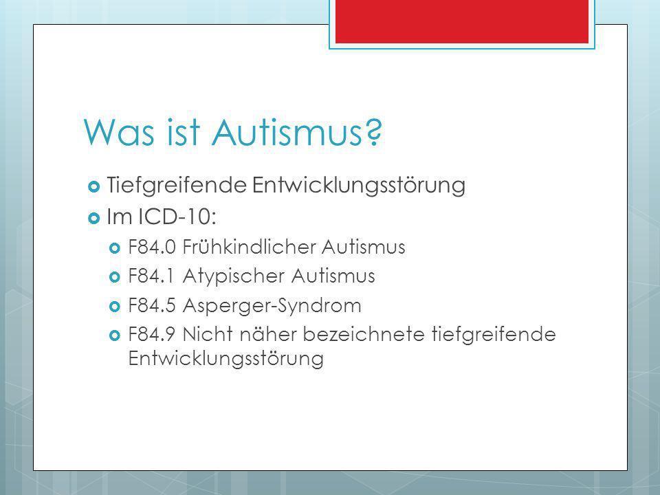 Was ist Autismus.