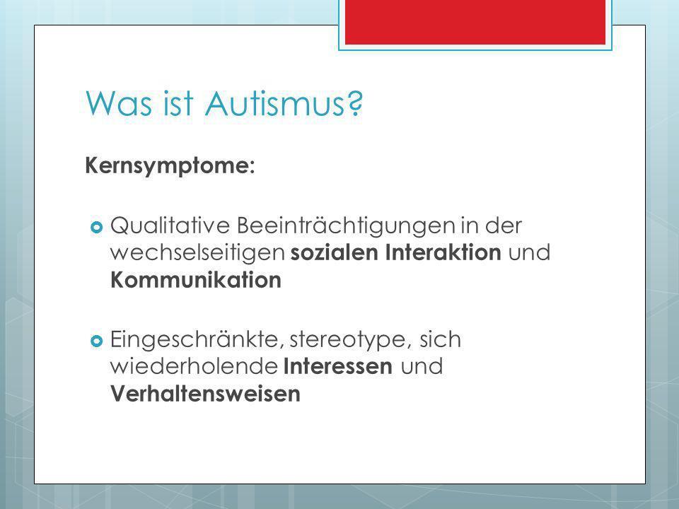 Frühkindlicher Autismus 1943 von Leo Kanner beschrieben Kanner-Syndrom Symptome VOR dem 3.