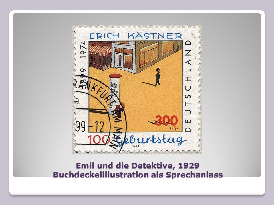Emil und die Detektive, 1929 Buchdeckelillustration als Sprechanlass