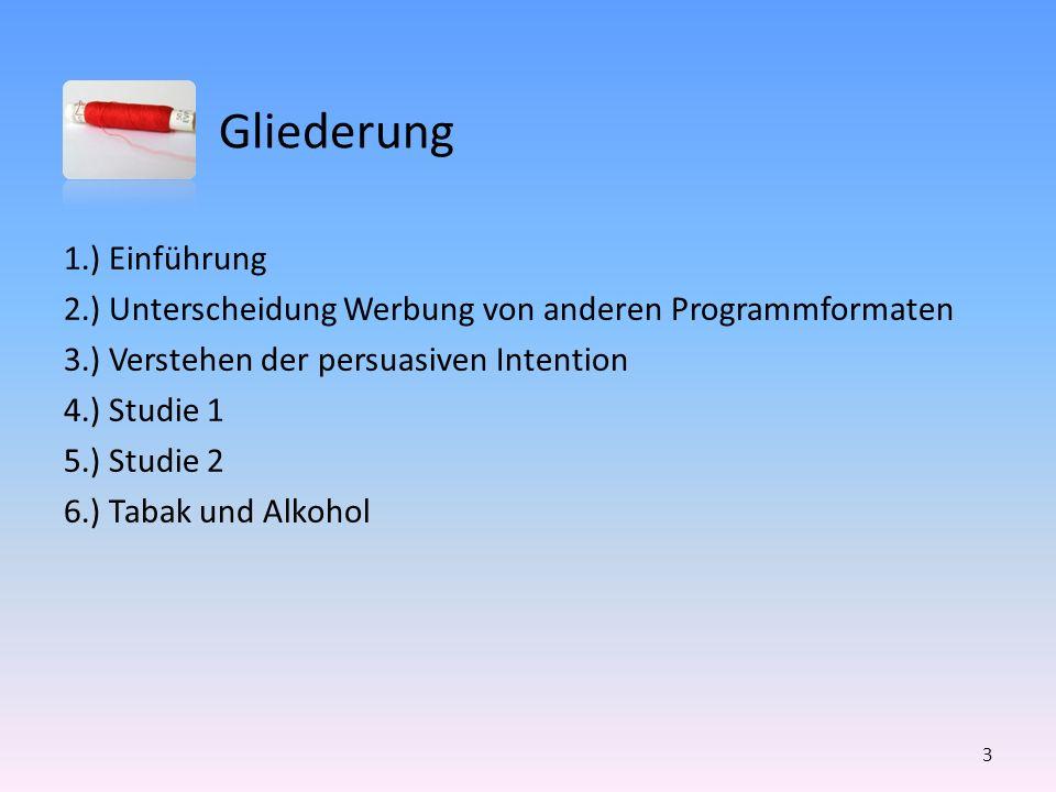 2.) Unterscheidung Werbung von anderen Programmformaten Wie wird Entscheidung getroffen.