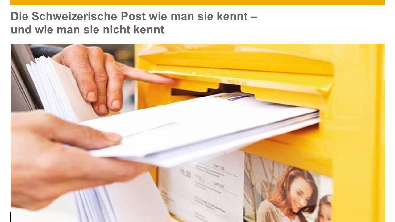 ©2013 SAP AG or an SAP affiliate company. All rights reserved.5 Die Schweizerische Post wie man sie kennt – und wie man sie nicht kennt