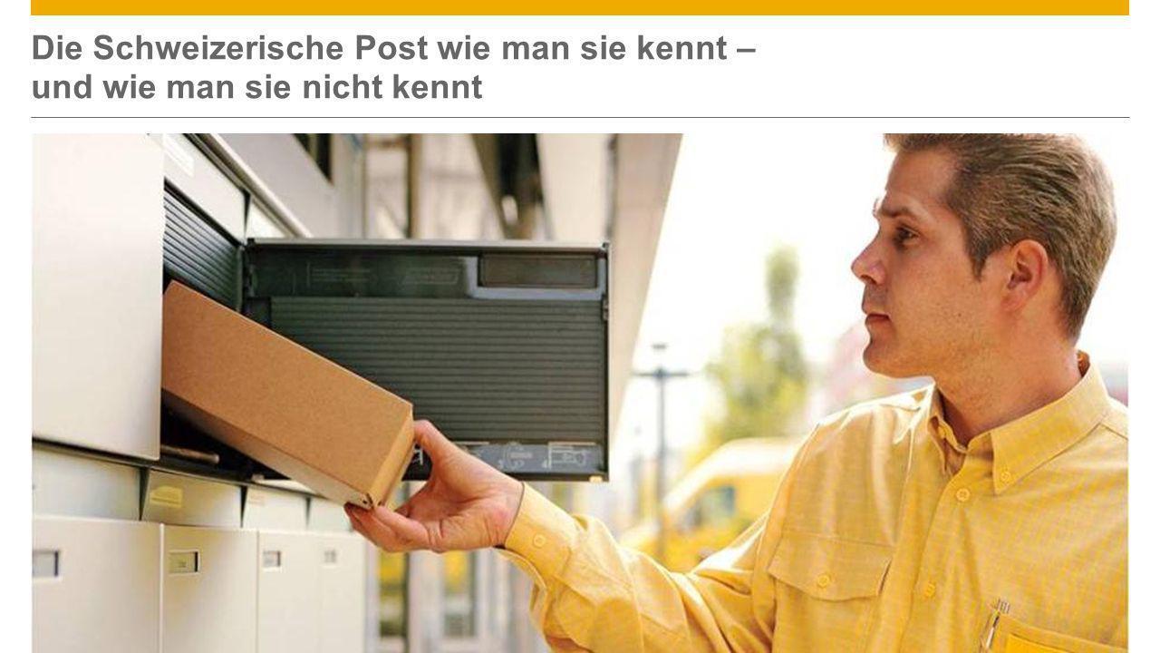 ©2013 SAP AG or an SAP affiliate company. All rights reserved.6 Die Schweizerische Post wie man sie kennt – und wie man sie nicht kennt