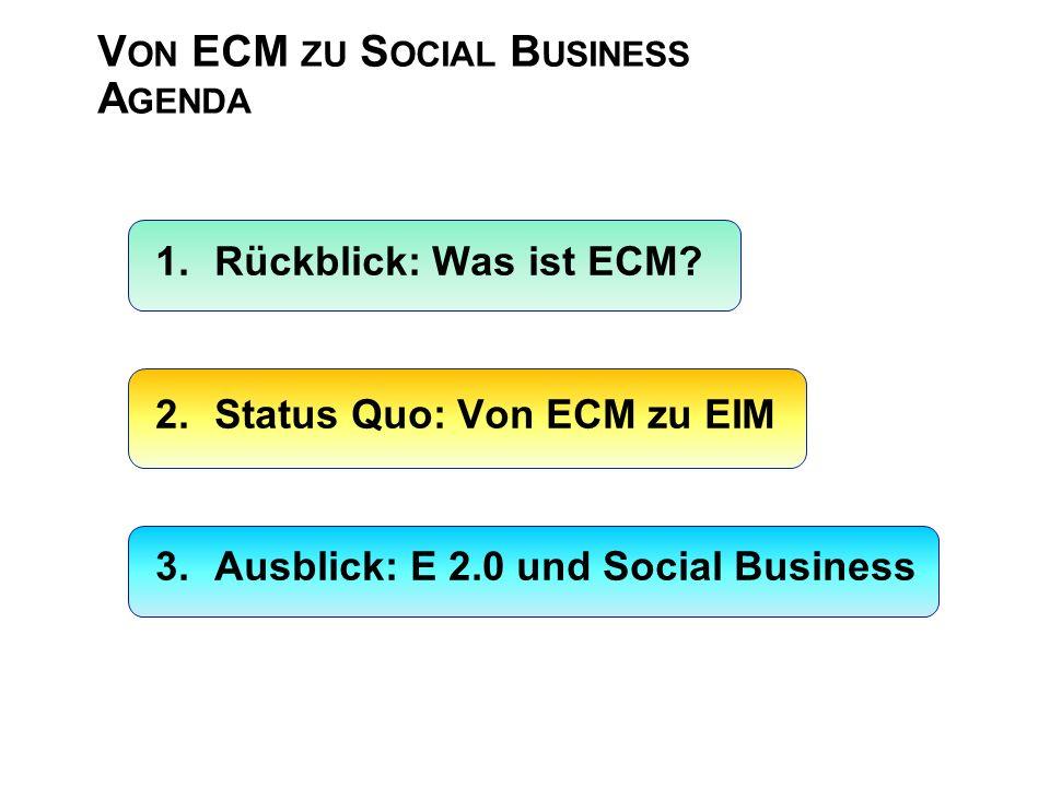 V ON ECM ZU S OCIAL B USINESS A GENDA 1.Rückblick: Was ist ECM.