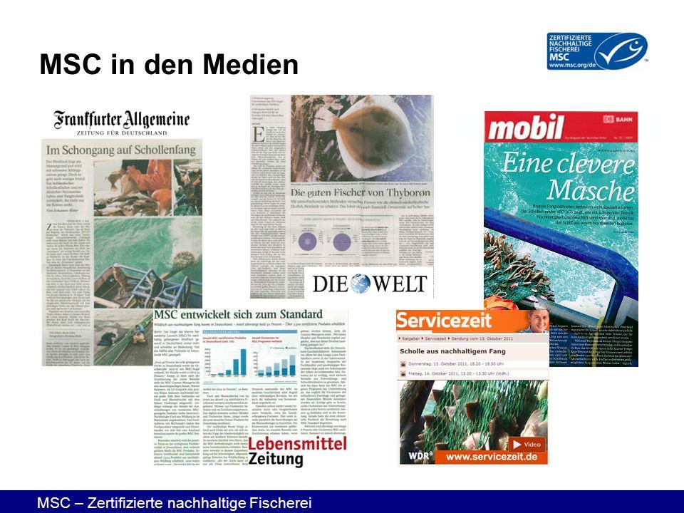MSC – Zertifizierte nachhaltige Fischerei MSC in den Medien