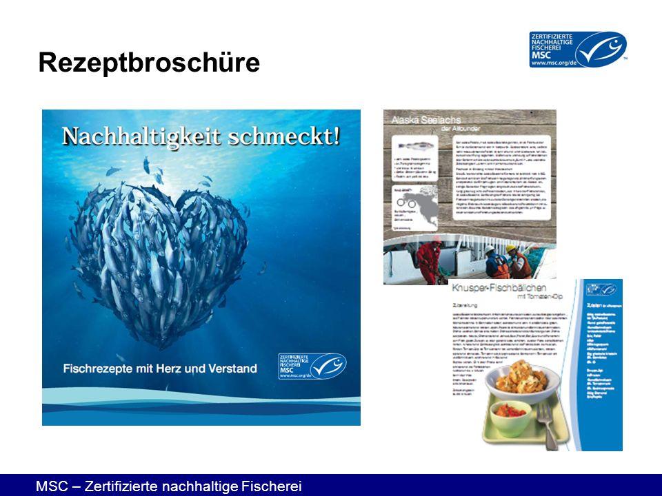 MSC – Zertifizierte nachhaltige Fischerei Rezeptbroschüre