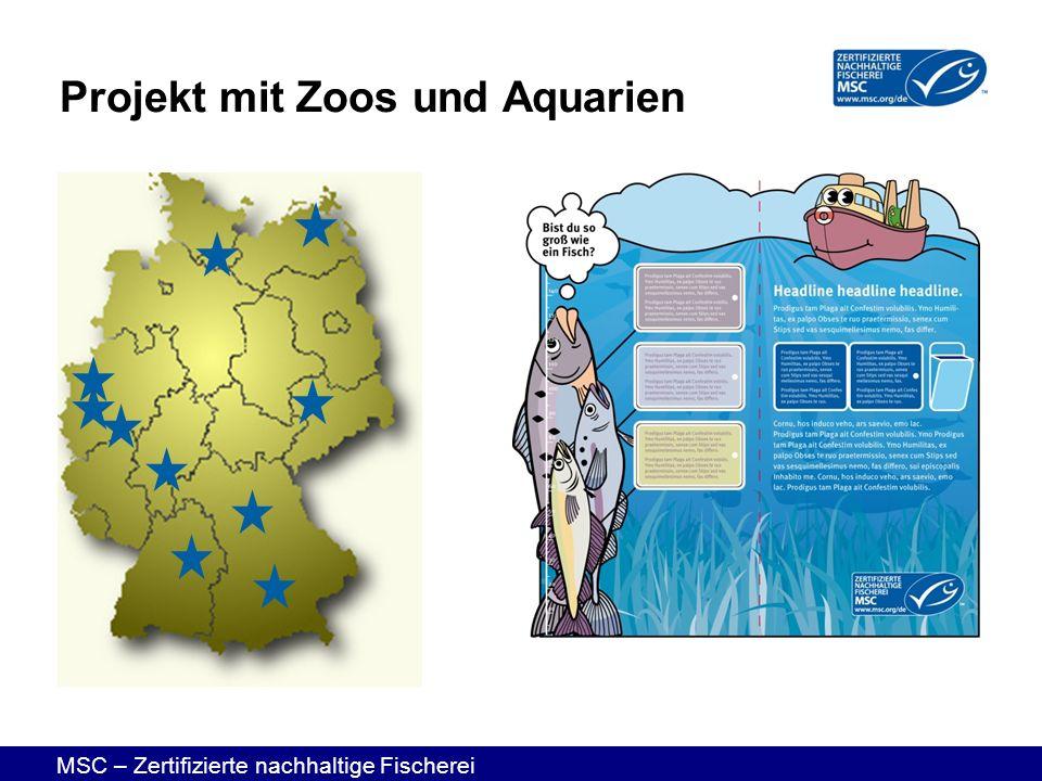 MSC – Zertifizierte nachhaltige Fischerei Projekt mit Zoos und Aquarien