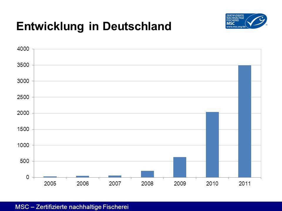 MSC – Zertifizierte nachhaltige Fischerei Entwicklung in Deutschland