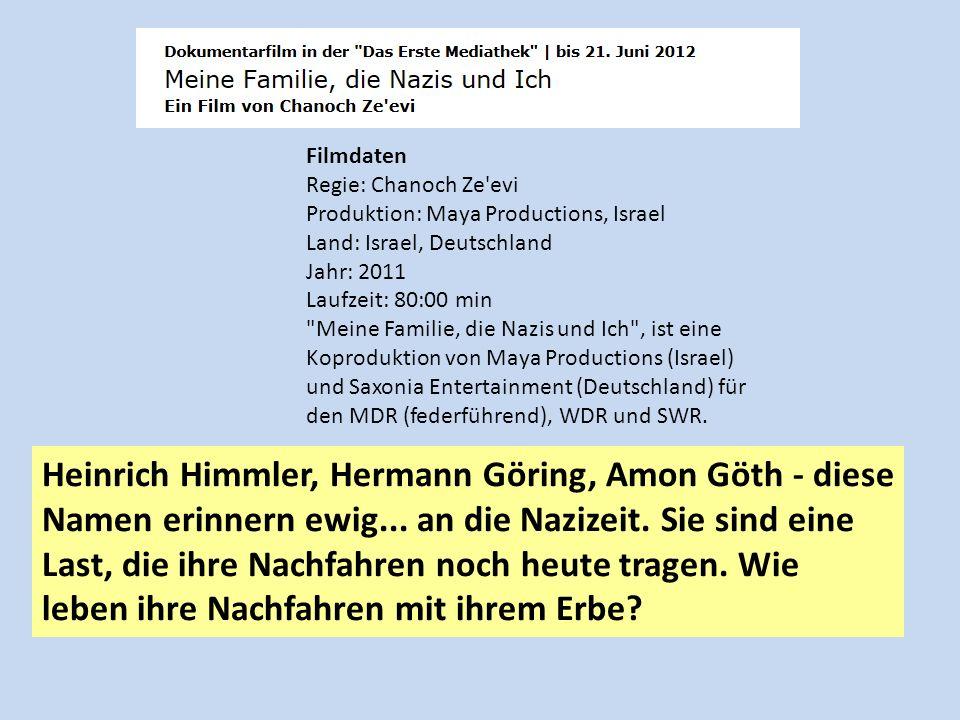 Filmdaten Regie: Chanoch Ze'evi Produktion: Maya Productions, Israel Land: Israel, Deutschland Jahr: 2011 Laufzeit: 80:00 min