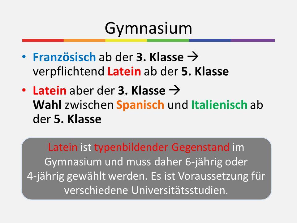 Realgymnasium Der Unterrichtsgegenstand Werken bleibt erhalten (Wahl zwischen TEW und TEXW) Hinzu kommen Geometrisch Zeichnen (in der 3.