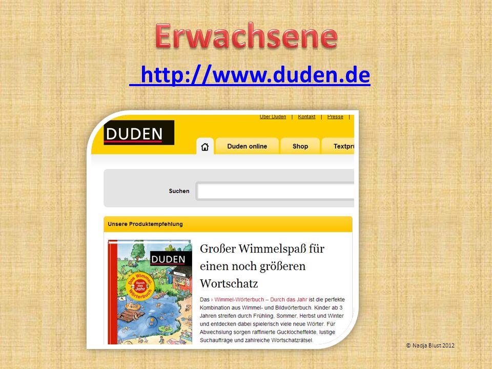 http://www.duden.de © Nadja Blust 2012
