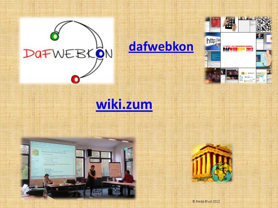 wiki.zum dafwebkon © Nadja Blust 2012