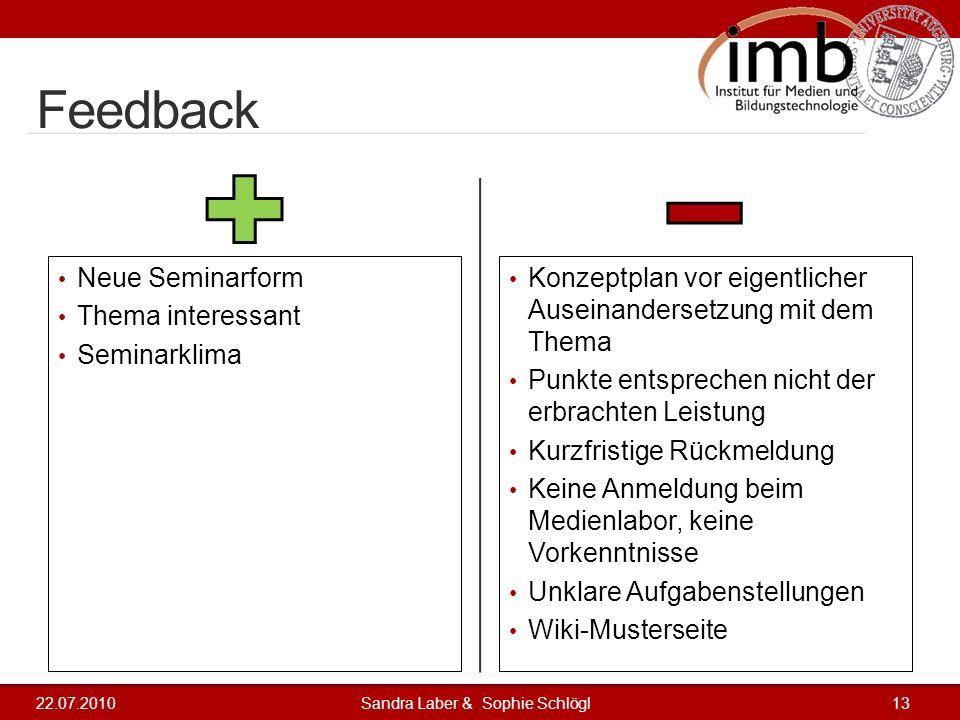 Feedback Neue Seminarform Thema interessant Seminarklima Konzeptplan vor eigentlicher Auseinandersetzung mit dem Thema Punkte entsprechen nicht der er