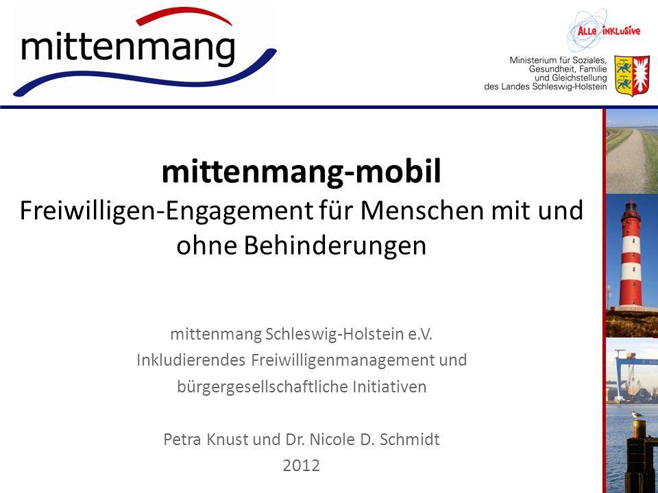 mittenmang-mobil Freiwilligen-Engagement für Menschen mit und ohne Behinderungen mittenmang Schleswig-Holstein e.V. Inkludierendes Freiwilligenmanagem
