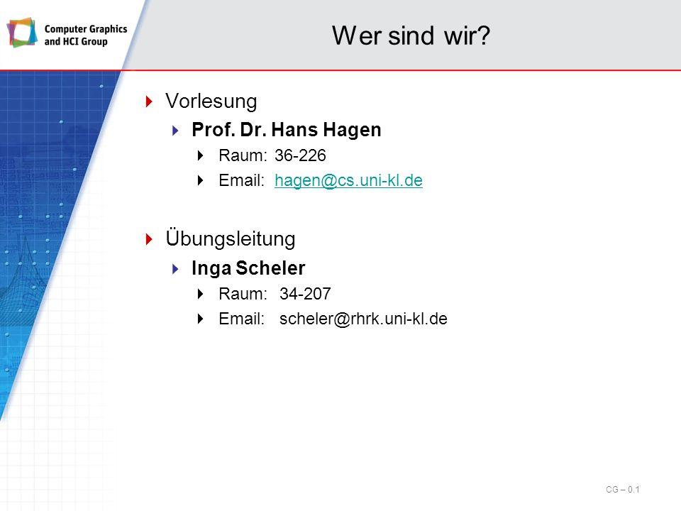 Computergrafik für Hörer anderer Fachrichtungen WS 2012/13