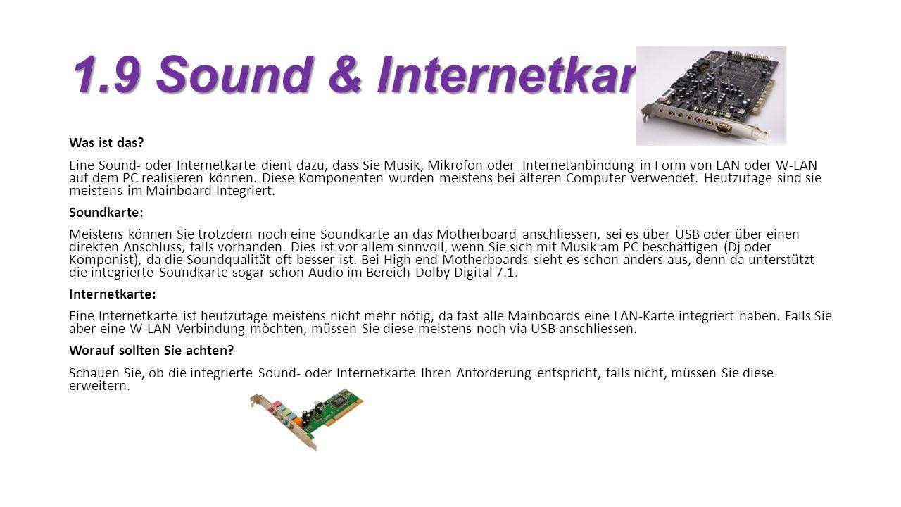 1.9 Sound & Internetkarte Was ist das.