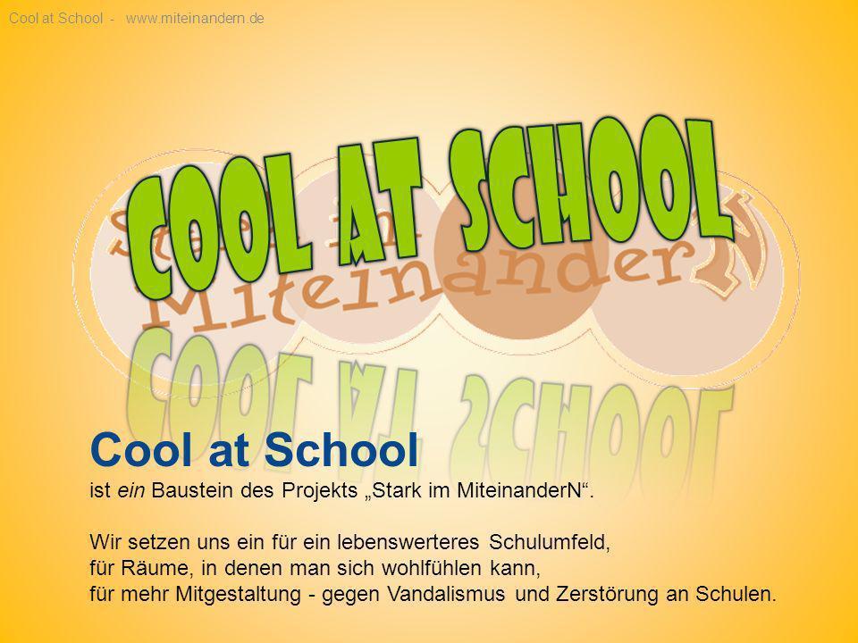 Cool at School ist ein Baustein des Projekts Stark im MiteinanderN.