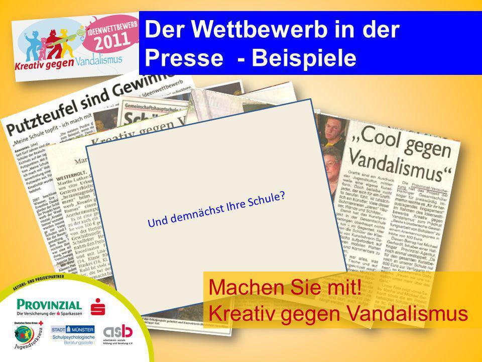 Der Wettbewerb in der Presse - Beispiele Und demnächst Ihre Schule.