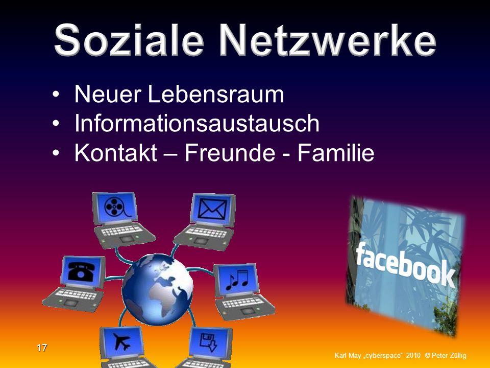 16 Karl May cyberspace 2010 © Peter Züllig Grosses Rating (Einschaltquoten) Die wichtigsten Begriffe im Titel oder auf der Frontpage Aktualität (Tages