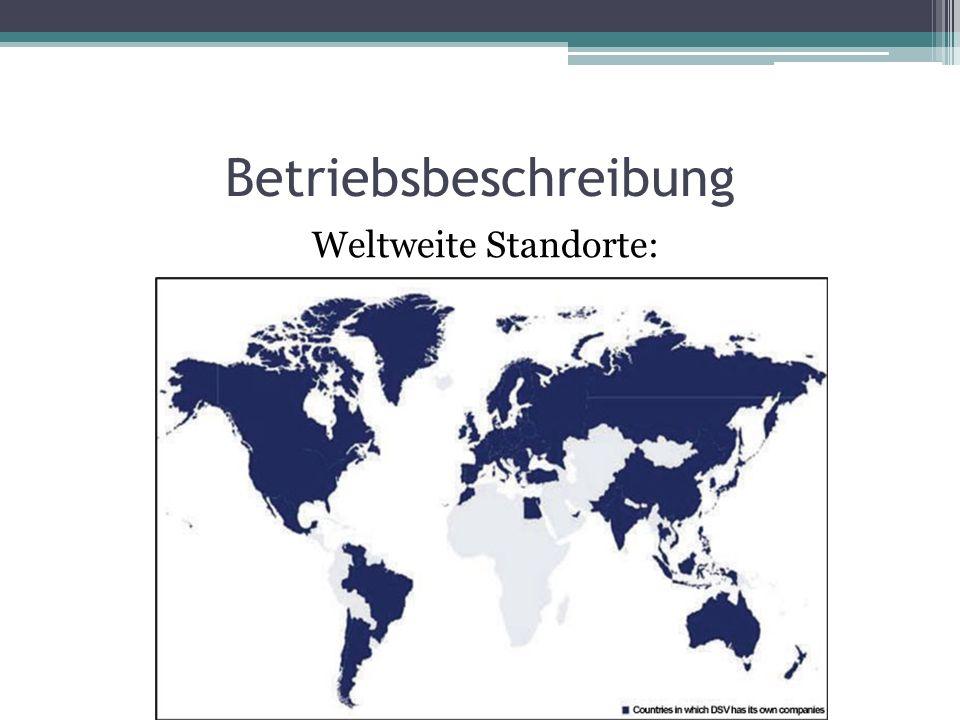 Weltweite Standorte:
