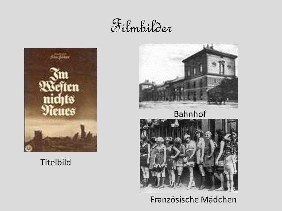 Filmbilder Titelbild Bahnhof Französische Mädchen