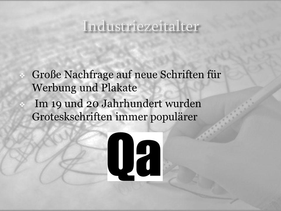 Die bekannteste deutsche Strömung des Bauhauses war 1920-1930 Bauhaus Typografie ist konstruktiv und geometrisch Bekannteste Schrift die von Paul Renner 1928 entwickelt wurde heißt Futura Ursprüngliche FormModifizierte Form