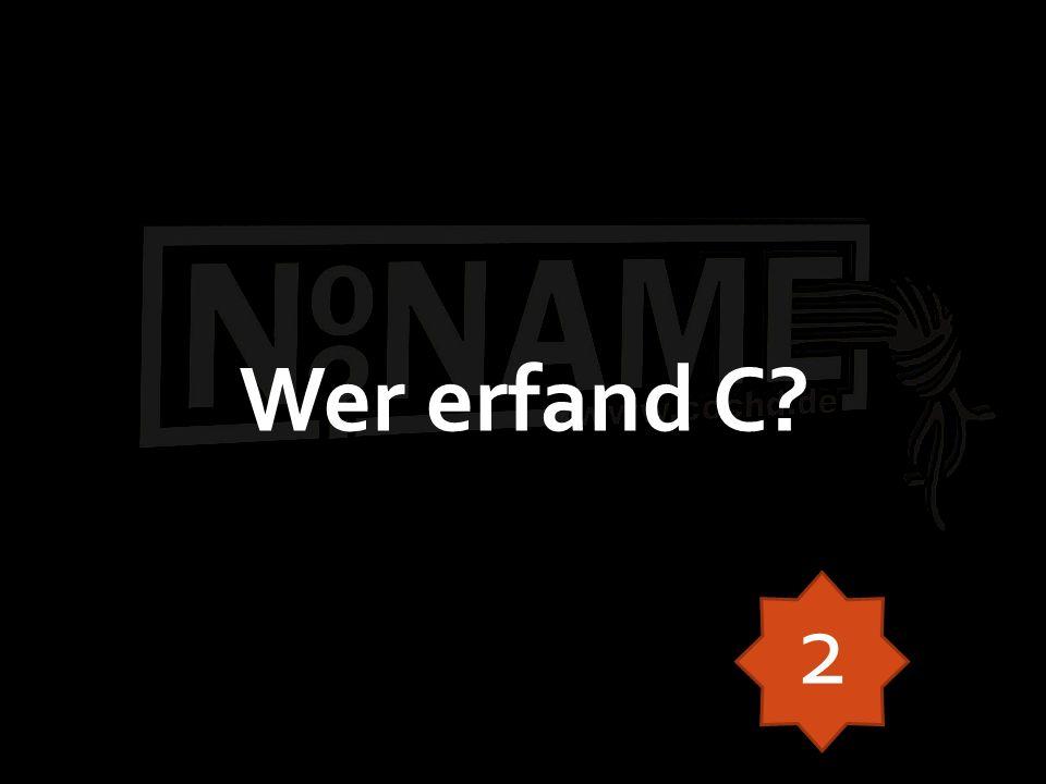 Wer erfand C? 2