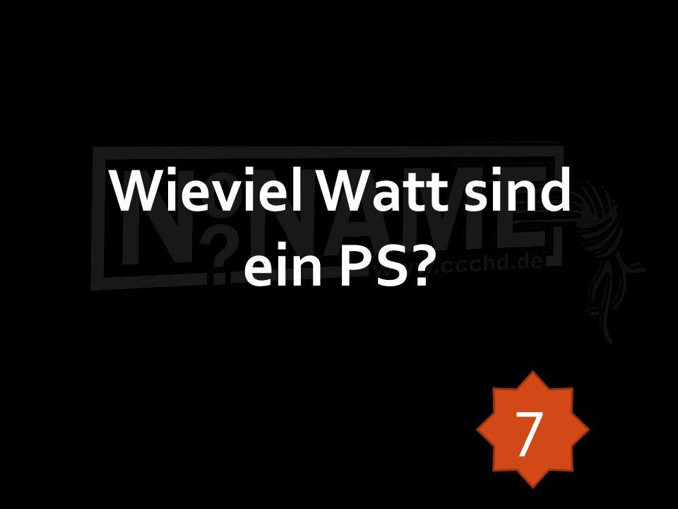 Wieviel Watt sind ein PS 7
