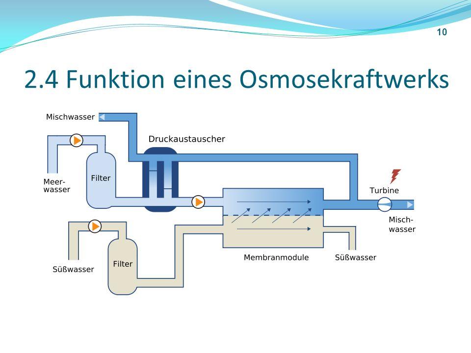 2.4 Funktion eines Osmosekraftwerks 10