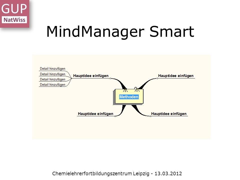 MindManager Smart Chemielehrerfortbildungszentrum Leipzig - 13.03.2012
