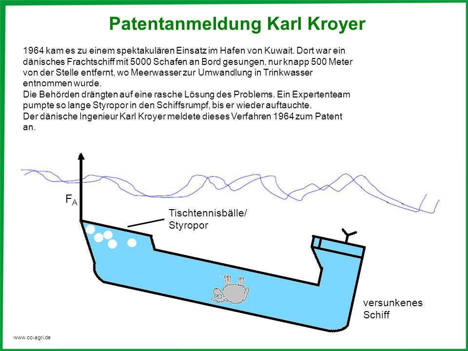 www.cc-agri.de Patentanmeldung 1964 kam es zu einem spektakulären Einsatz im Hafen von Kuwait. Dort war ein dänisches Frachtschiff mit 5000 Schafen an