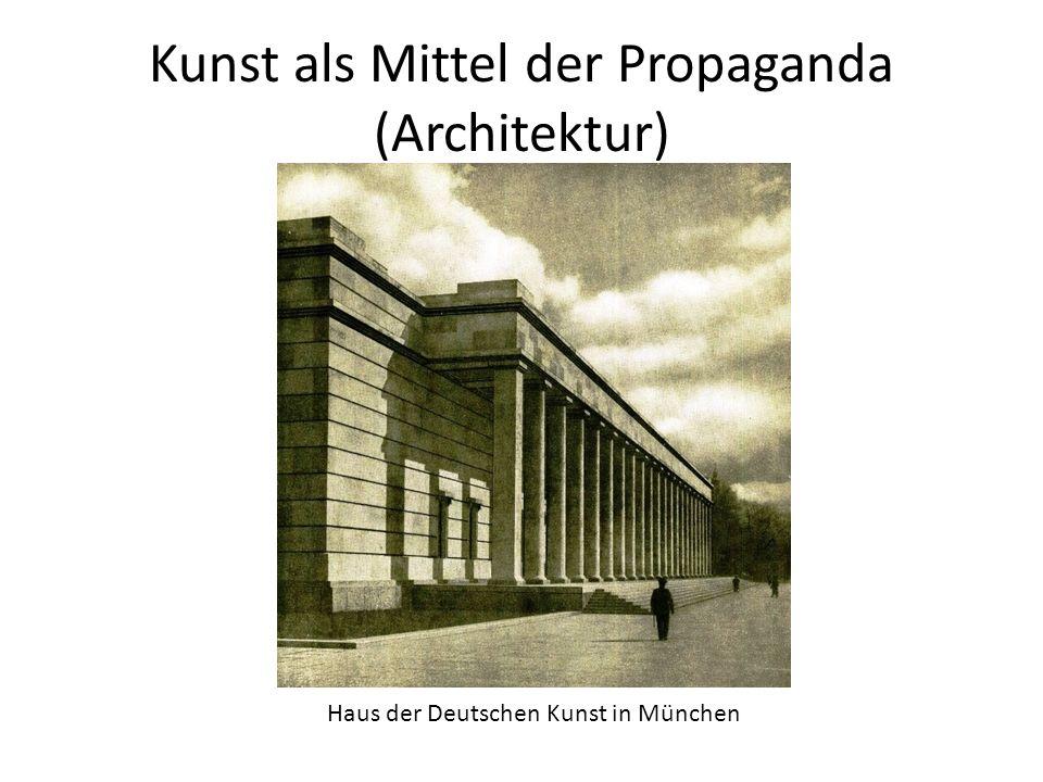 Kunst als Mittel der Propaganda (Architektur) Haus der Deutschen Kunst in München