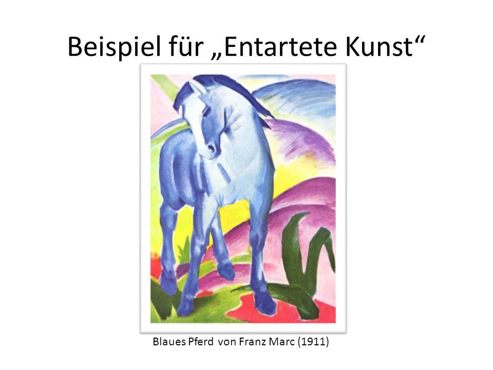 Beispiel für Entartete Kunst Blaues Pferd von Franz Marc (1911)