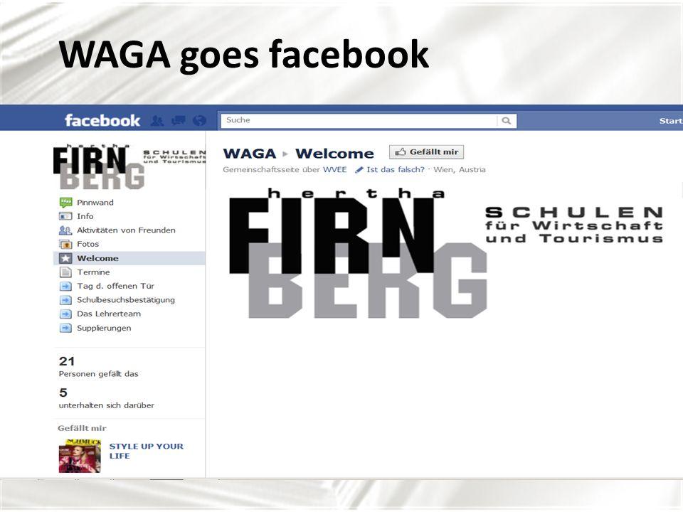 WAGA goes facebook