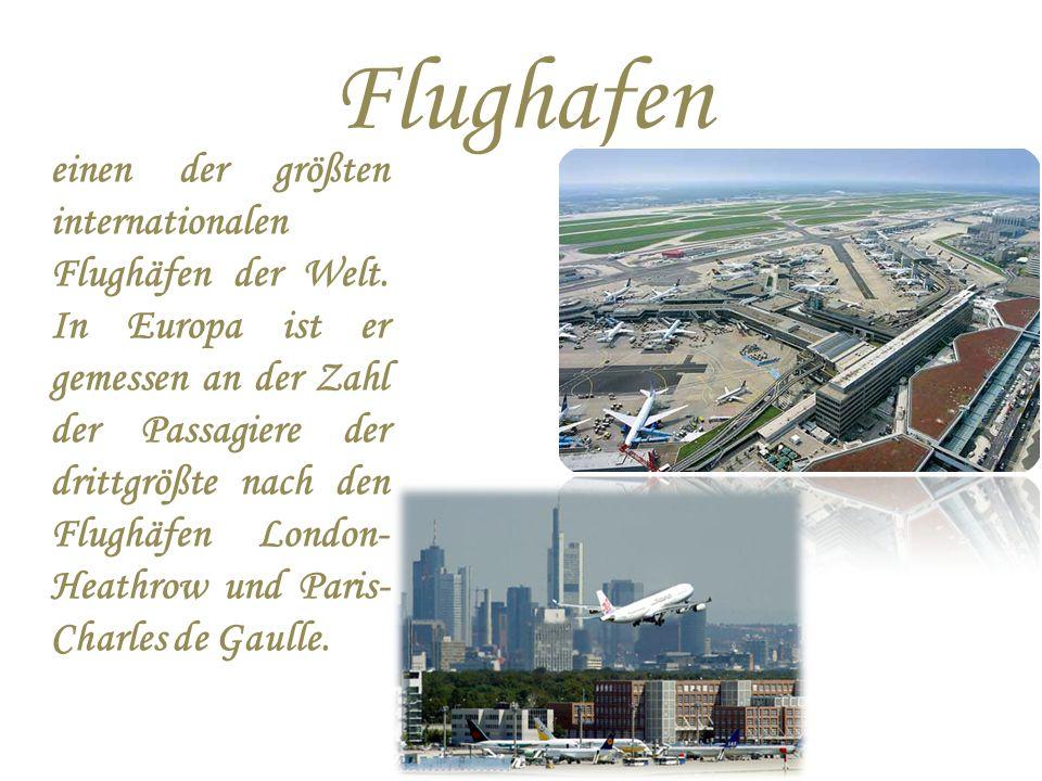 Flughafen einen der größten internationalen Flughäfen der Welt.