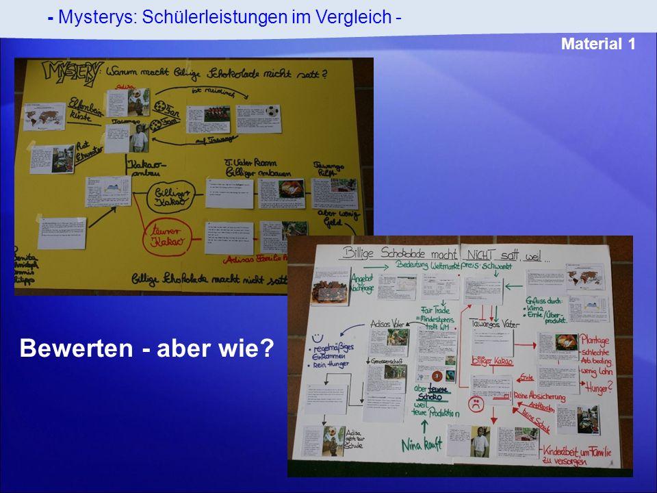 - Mysterys: Schülerleistungen im Vergleich - Material 1 Bewerten - aber wie?