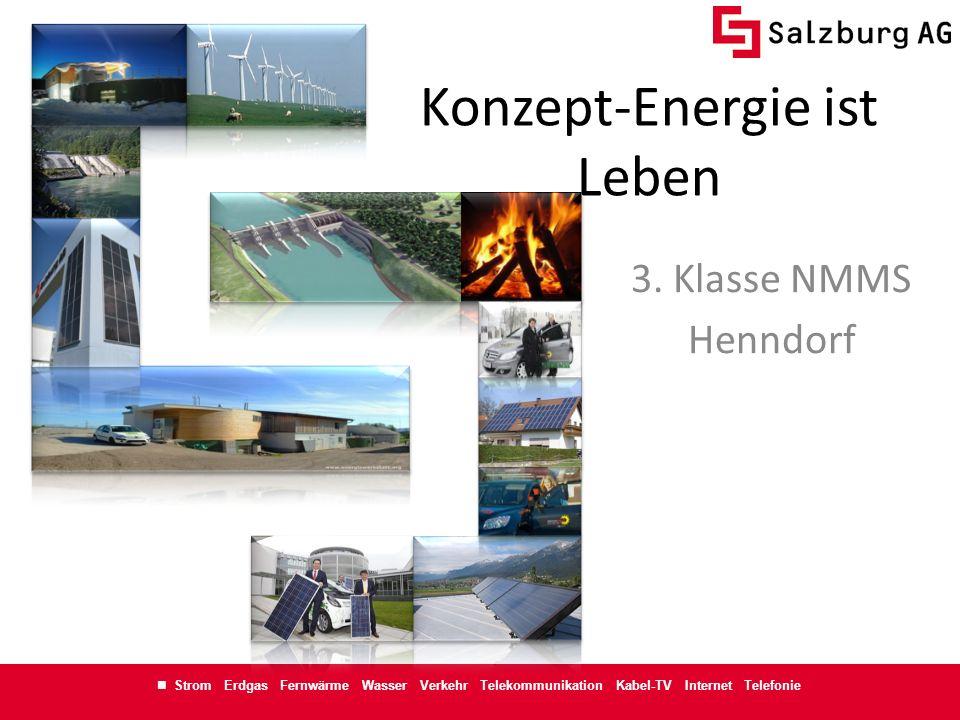 Strom Erdgas Fernwärme Wasser Verkehr Telekommunikation Kabel-TV Internet Telefonie Konzept-Energie ist Leben 3. Klasse NMMS Henndorf
