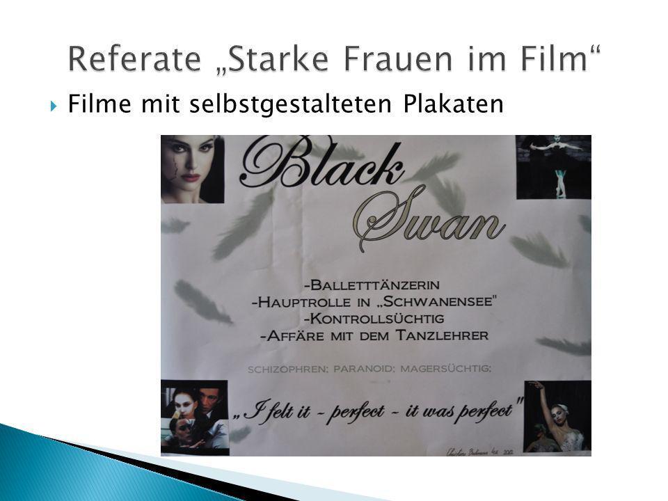 Filme mit selbstgestalteten Plakaten
