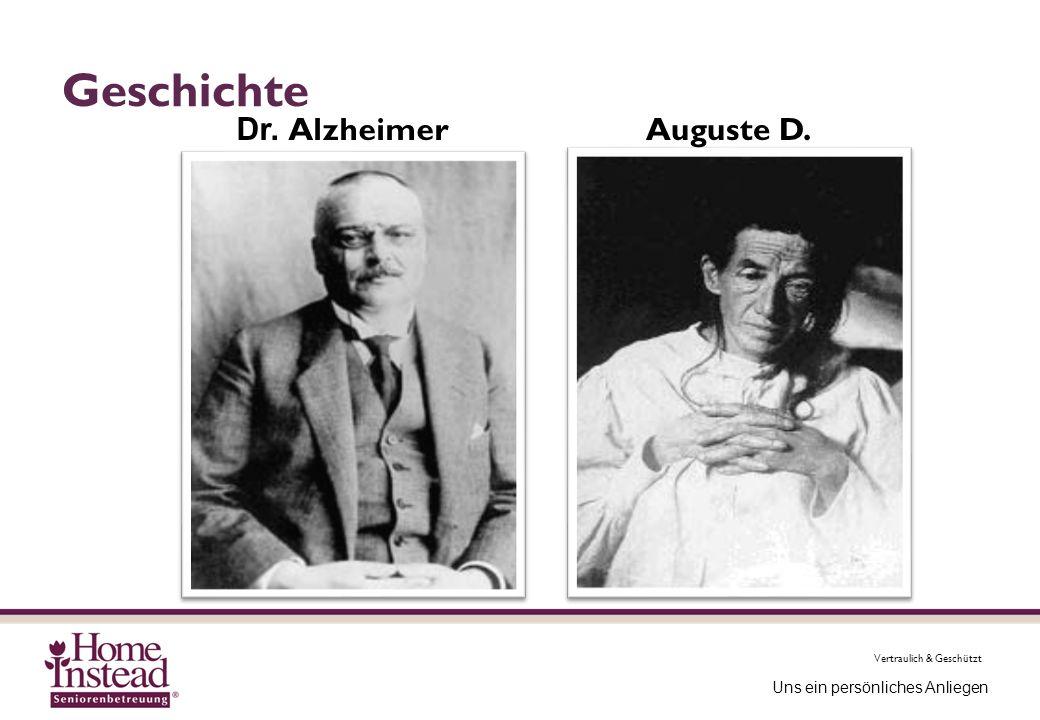 Vertraulich & Geschützt Uns ein persönliches Anliegen Geschichte Auguste D. Dr. Alzheimer