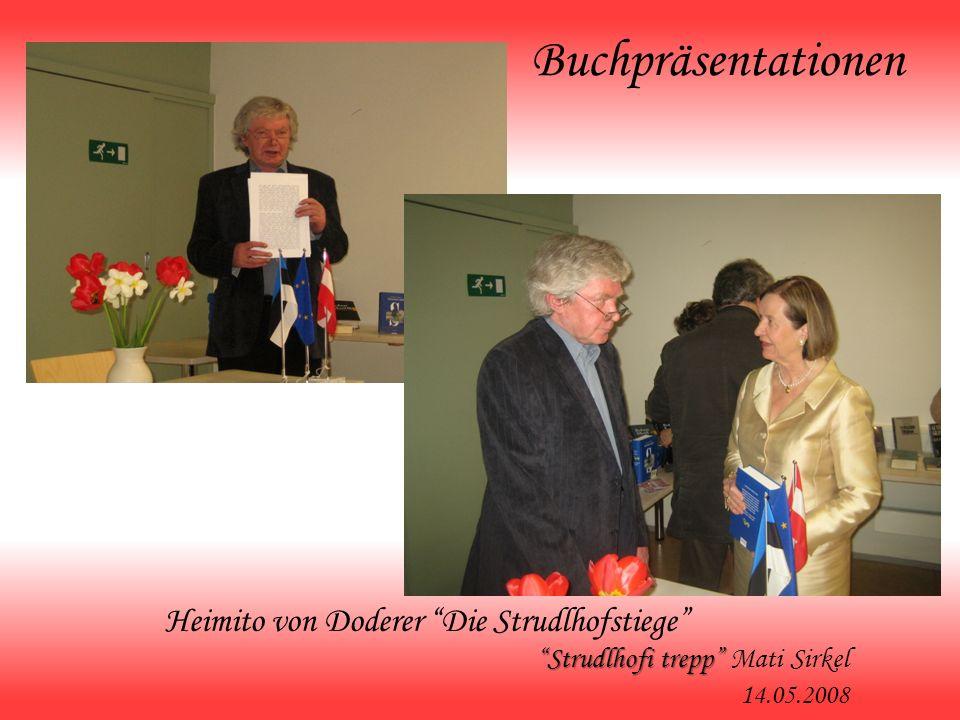 Buchpräsentationen Heimito von Doderer Die Strudlhofstiege Strudlhofi trepp Strudlhofi trepp Mati Sirkel 1 4.05.2008