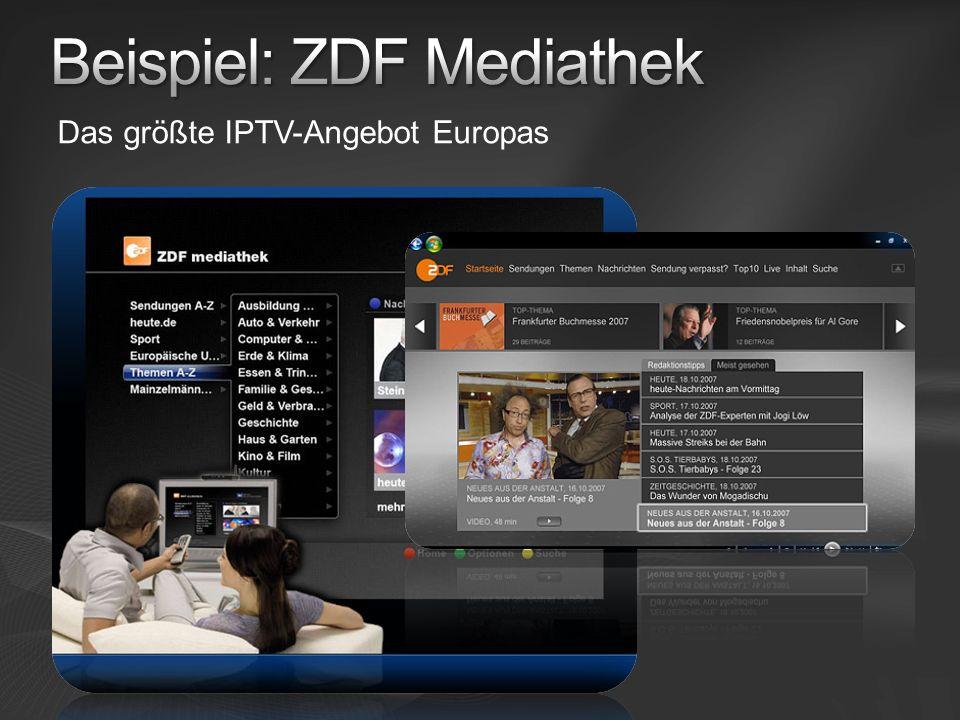 Das größte IPTV-Angebot Europas