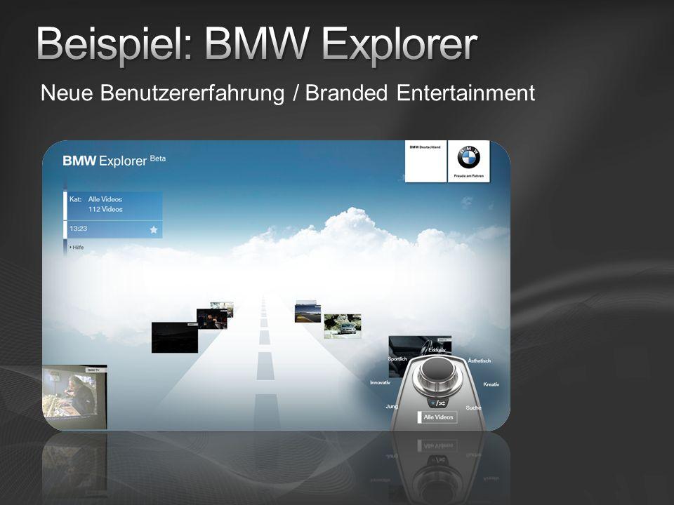 Neue Benutzererfahrung / Branded Entertainment