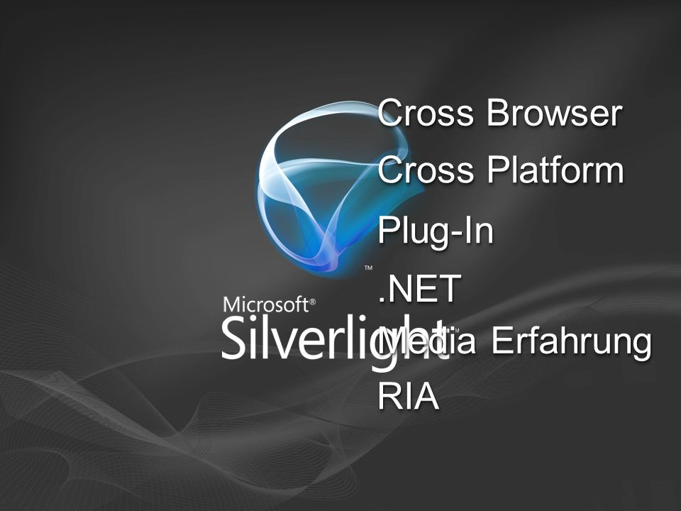 Cross Platform Cross Browser Media Erfahrung.NET.NET Plug-InPlug-In RIARIA