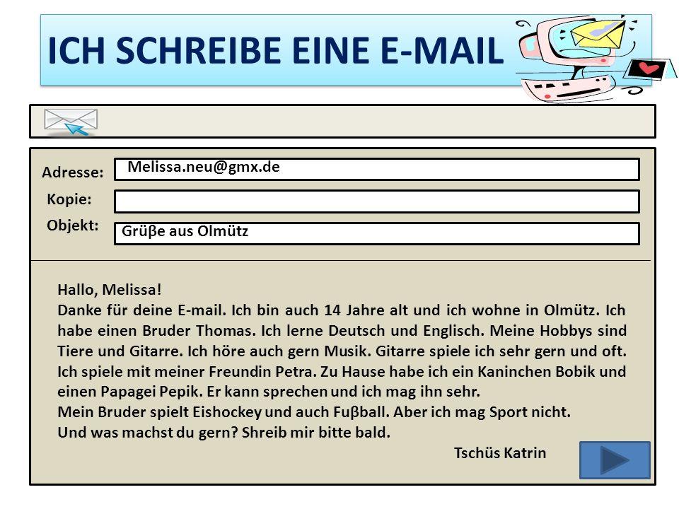 DIE E-MAIL-ADRESSE alice.novakova@seznam.cz der Klammeraffe der Punkt in Deutschland haben sie de.