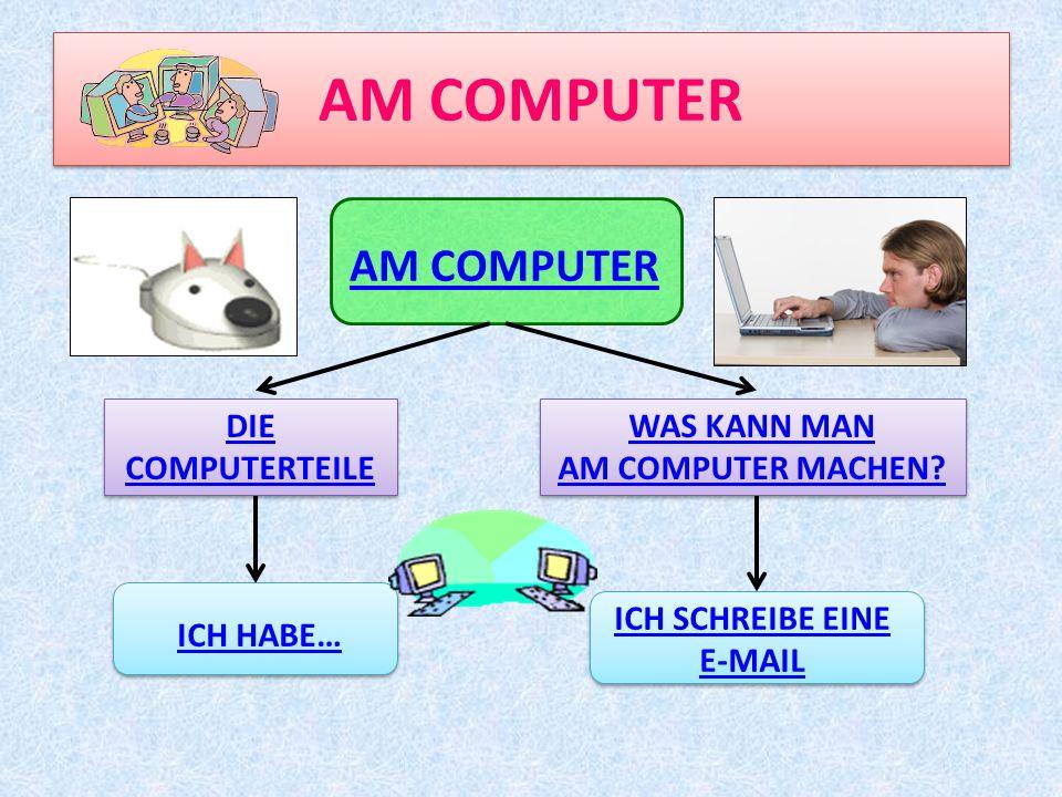 AM COMPUTER DIE COMPUTERTEILE DIE COMPUTERTEILE WAS KANN MAN AM COMPUTER MACHEN.