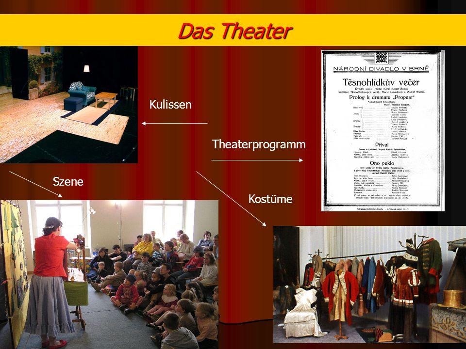 Das Theater Kulissen Theaterprogramm Szene Kostüme