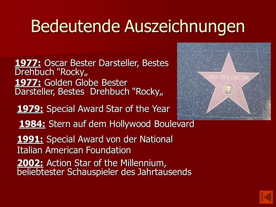 Bedeutende Auszeichnungen 1977: Oscar Bester Darsteller, Bestes Drehbuch