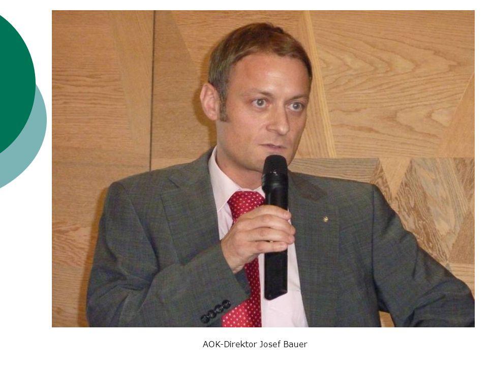 AOK-Direktor Josef Bauer
